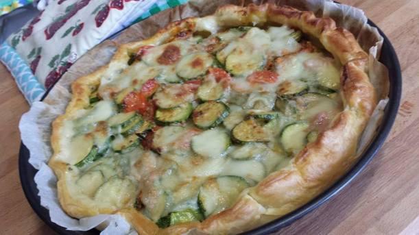 torta salata zucchine e fiori